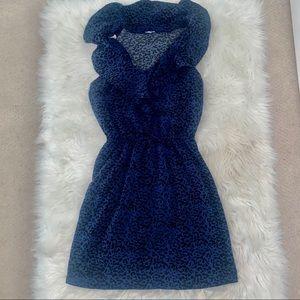 Women's navy blue leopard print dress 💙💙